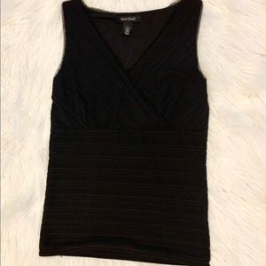 White House Black Market black shell tank